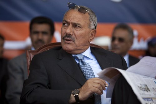 President Ali Abdullah Saleh in Sana, Yemen on 10 March 2011 [Jonathan Saruk/Getty Images]