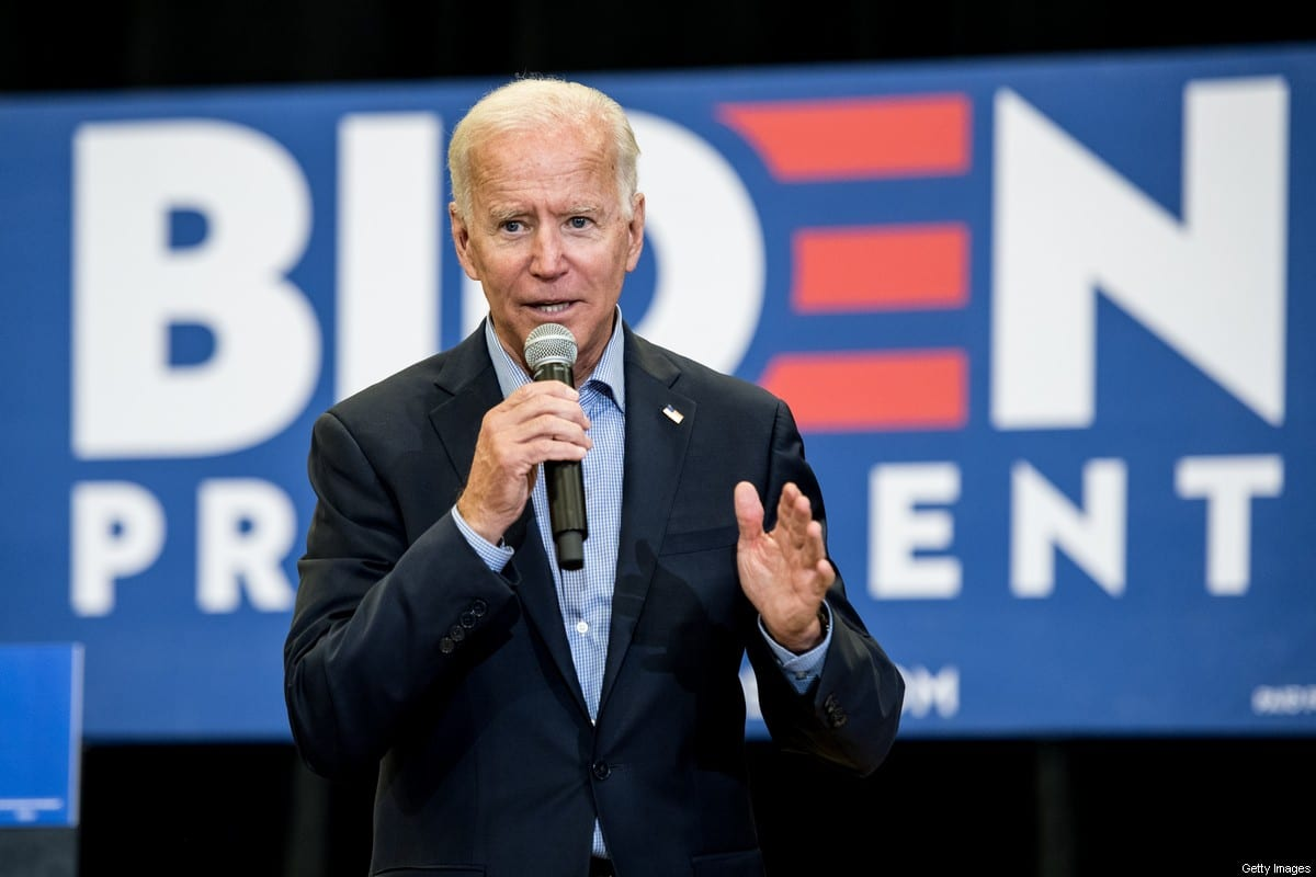 US President Joe Biden in South Carolina, US on 29 August 2019 [Sean Rayford/Getty Images]