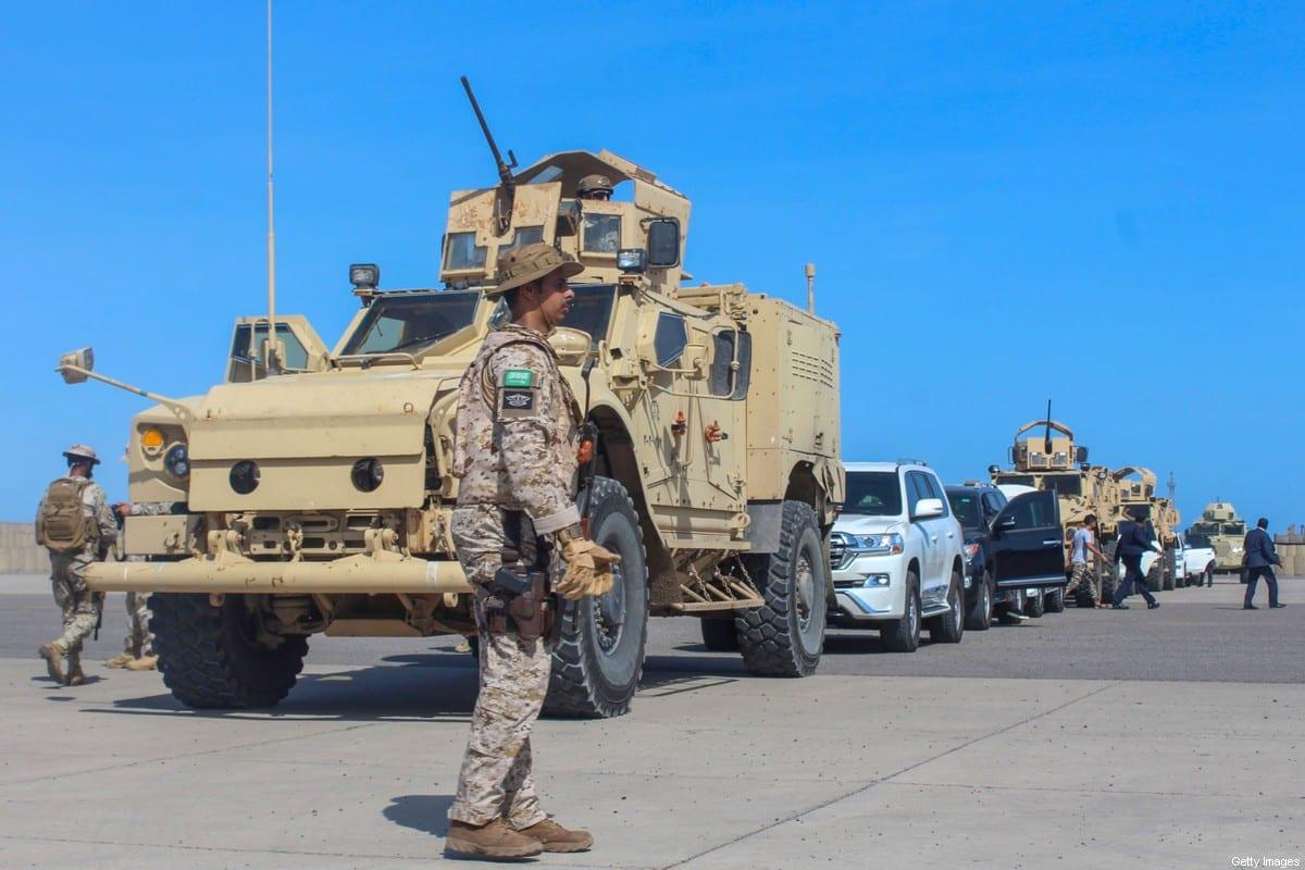 Saudi forces in Aden on November 18, 2019. [SALEH AL-OBEIDI/AFP via Getty Images]