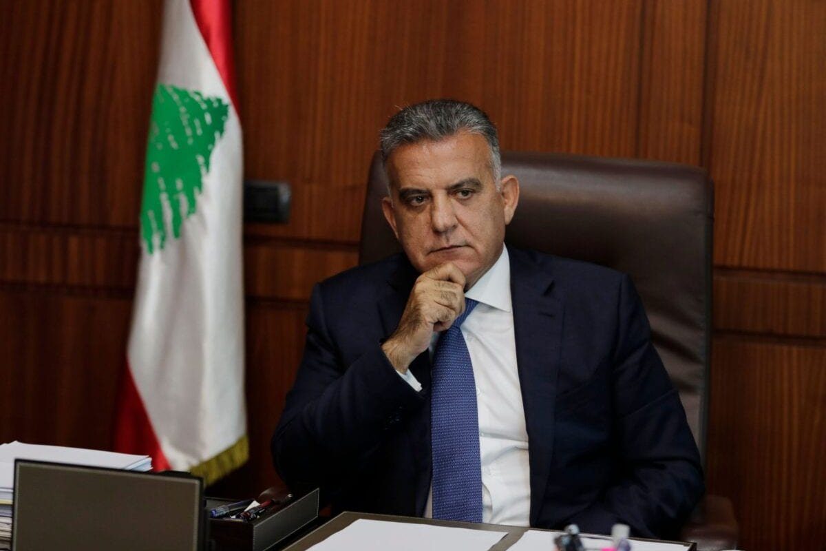 The influential head of Lebanon's General Security apparatus, Abbas Ibrahim, is pictured during an interview at his office in the capital Beirut on July 22, 2020 [ANWAR AMRO/AFP via Getty Images]