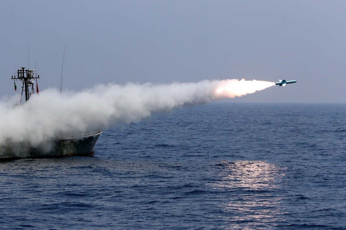 Navy military exercise in the Gulf of Oman on 11 September 2020 [Iranian Army office/AFP/Getty Images]