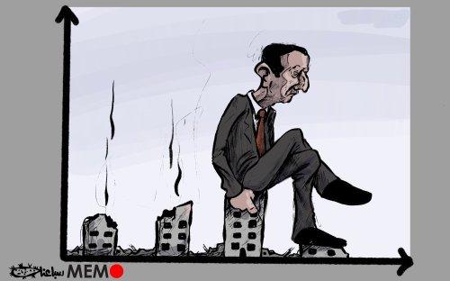 Is Assad ruining Syria's economy? - Cartoon [Sabaaneh/MiddleEastMonitor]