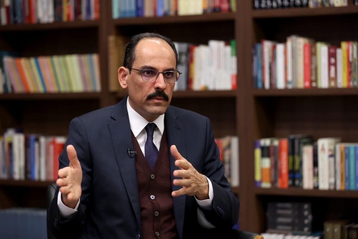 ANKARA, TURKEY - FEBRUARY 24: Turkish Presidential Spokesperson Ibrahim Kalin speaks during an exclusive interview in Ankara, Turkey on February 24, 2021. ( Raşit Aydoğan - Anadolu Agency )