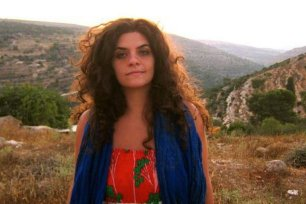 Palestinian American film director Suha Araj during the shooting of the multi-award-winning film 'The Cup Reader'