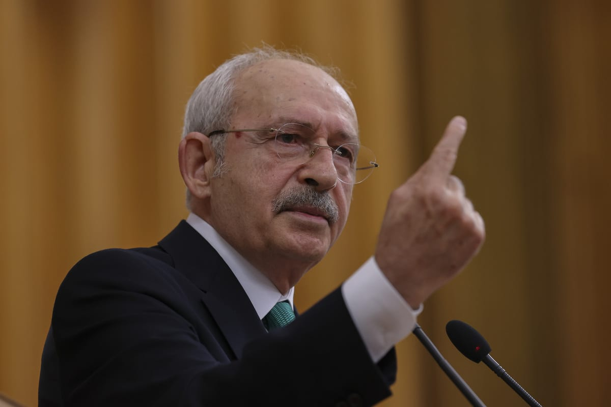 ANKARA, TURKEY - MARCH 02: Leader of the Republican People's Party (CHP), Kemal Kilicdaroglu speaks during his party's group meeting at the Turkish Grand National Assembly, in Ankara, Turkey on March 02, 2021. ( Güven Yılmaz - Anadolu Agency )