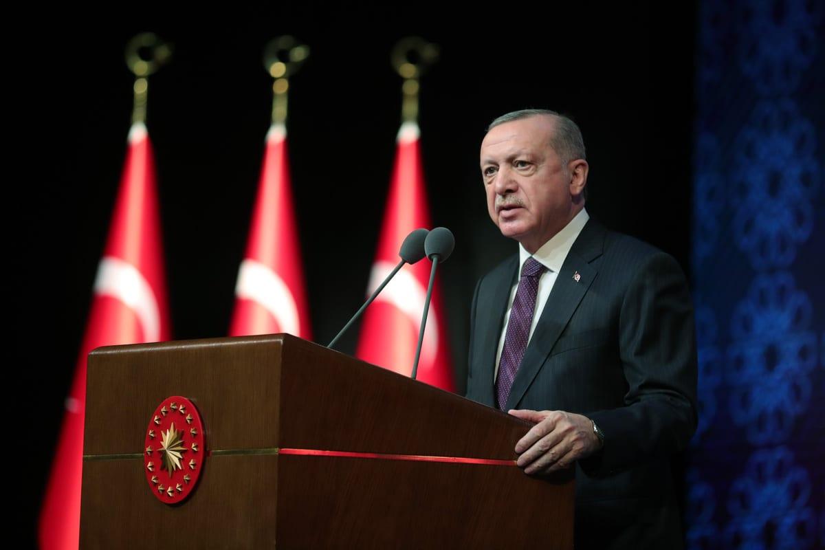 Turkish President Recep Tayyip Erdogan in Ankara, Turkey on 2 March 2021 [Mustafa Kamacı/Anadolu Agency]
