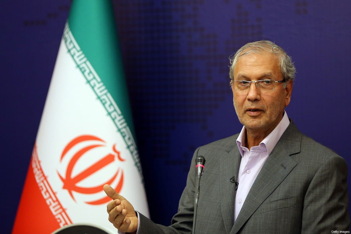 Iranian government spokesman Ali Rabiei speaks during a news conference in the capital Tehran on July 22, 2019 [STR/AFP via Getty Images]