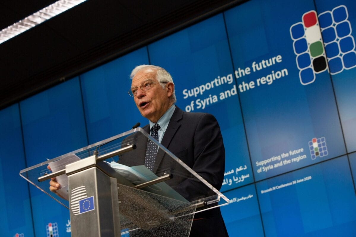 European Union foreign policy chief Josep Borrell in Brussels on June 30, 2020 [VIRGINIA MAYO/POOL/AFP via Getty Images]