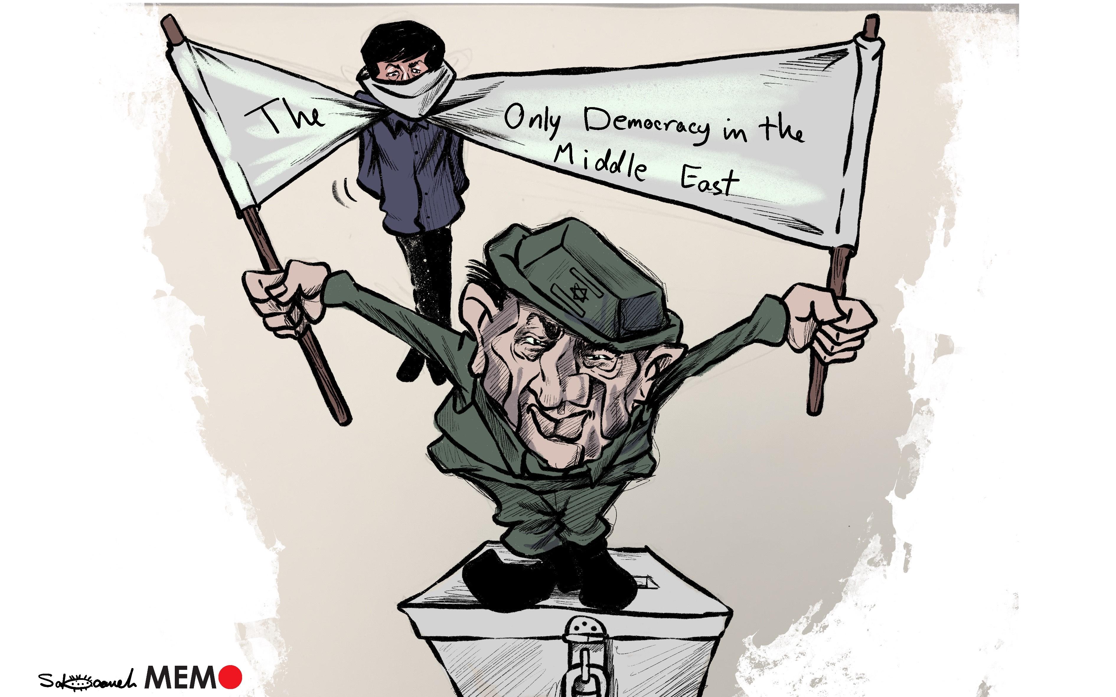 Israel is arresting Hamas members ahead of the election - Cartoon [Sabaaneh/MiddleEastMonitor]