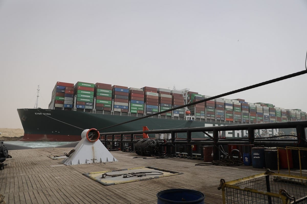 Suez Canal Blocked a Second Full Day