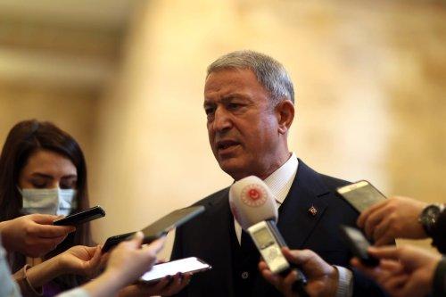 Turkish Defense Minister Hulusi Akar in Ankara, Turkey on March 25, 2021. [Arif Akdoğan - Anadolu Agency]