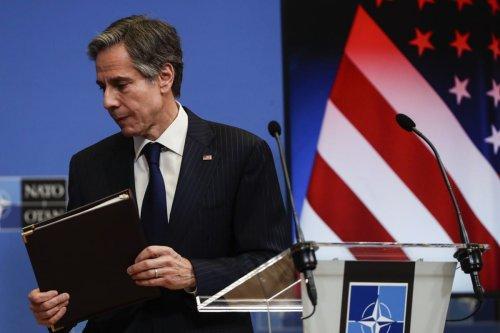US Secretary of State Antony Blinken on 24 March 2021 [Olivier Hoslet/Pool/Anadolu Agency]