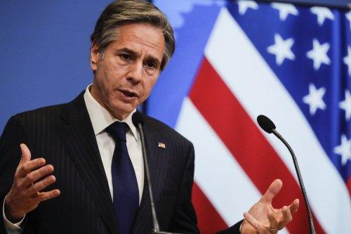 US Secretary of State Antony Blinken in Brussels, Belgium 24 March 2021 [Olivier Hoslet/Anadolu Agency]