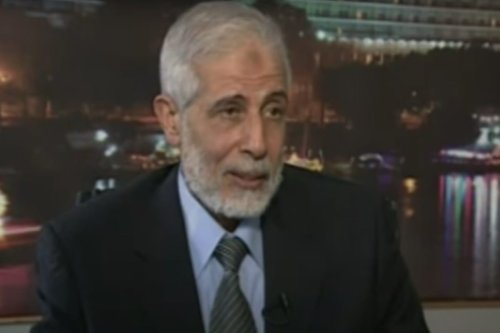 Mahmoud Ezzat, the Muslim Brotherhood's acting general guide [Youtube screen grab/Aljazeera]