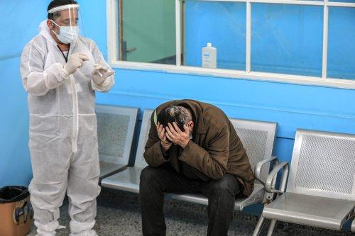 A view of Covid-19 service at Al-Shifa Hospital in Gaza City, Gaza on April 6, 2021 [Ali Jadallah/Anadolu Agency]