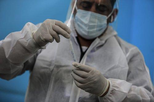 A view of Covid-19 service at Al-Shifa Hospital in Gaza City, Gaza on 6 April 2021. [Ali Jadallah - Anadolu Agency]