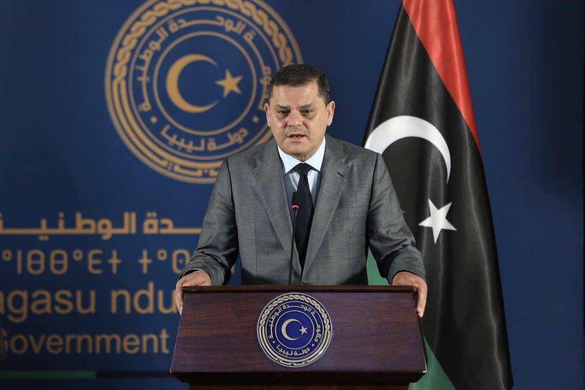 Libyan Government of National Unity Prime Minister Abdul Hamid Dbeibeh in Tripoli, Libya on April 06, 2021 [Hazem Turkia/Anadolu Agency]