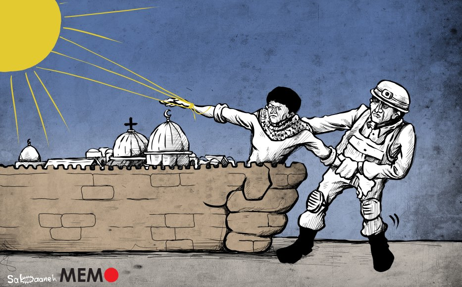 Israel to evict 400 Palestinians from Jerusalem's Sheikh Jarrah - Cartoon [Sabaaneh/MiddleEastMonitor]