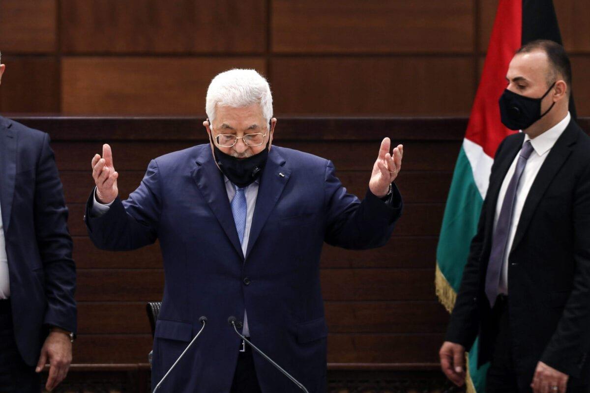 Palestinian president Mahmud Abbas in the West Bank's Ramallah on September 3, 2020 [ALAA BADARNEH/POOL/AFP via Getty Images]
