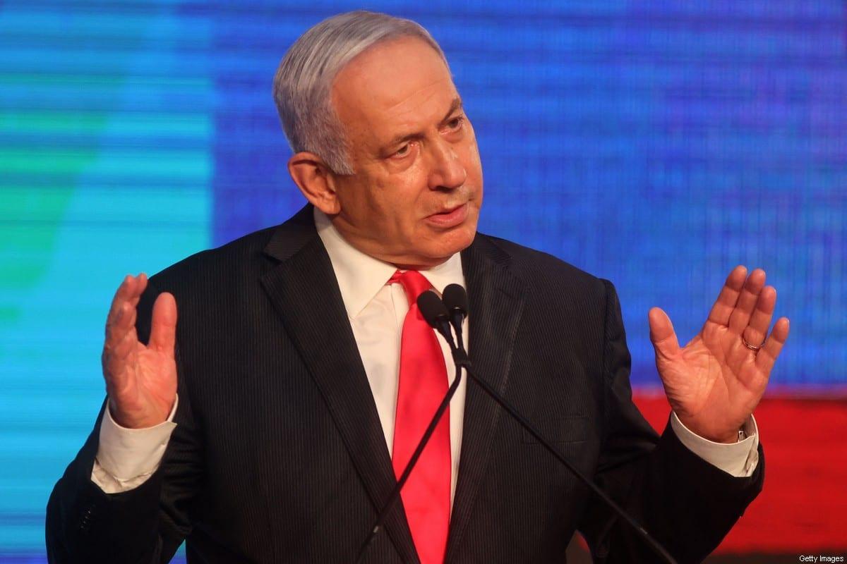Israeli Prime Minister Benjamin Netanyahu on March 24, 2021 [EMMANUEL DUNAND/AFP via Getty Images]