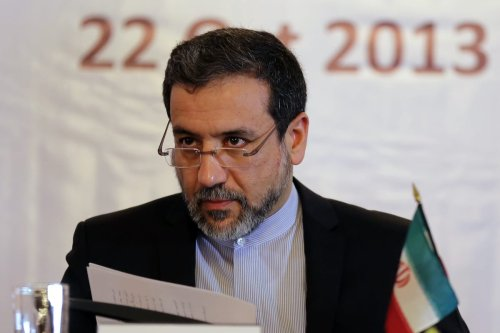 Iran's Deputy Foreign Minister Abbas Araqchi speaks during United Nations day in Tehran, on 22 October 2013. [ATTA KENARE/AFP via Getty Images]