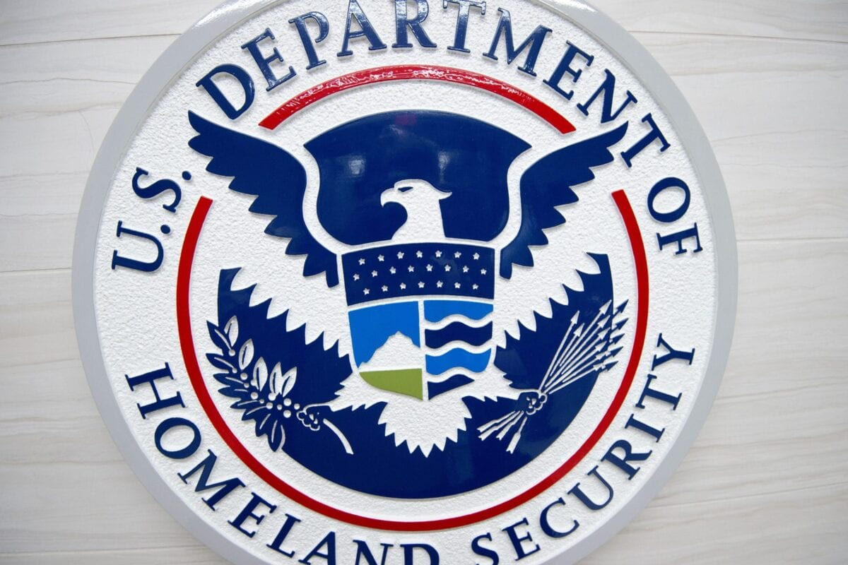 The Department of Homeland Security logo [PAUL J. RICHARDS/AFP via Getty Images]
