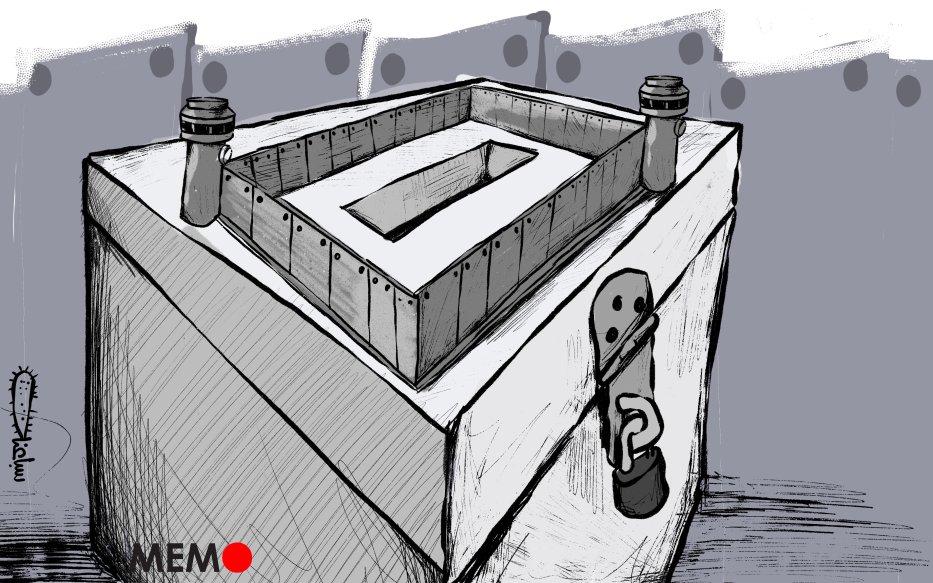 Israel refuses to hold polls in Jerusalem - Cartoon [Sabaaneh/MiddleEastMonitor]