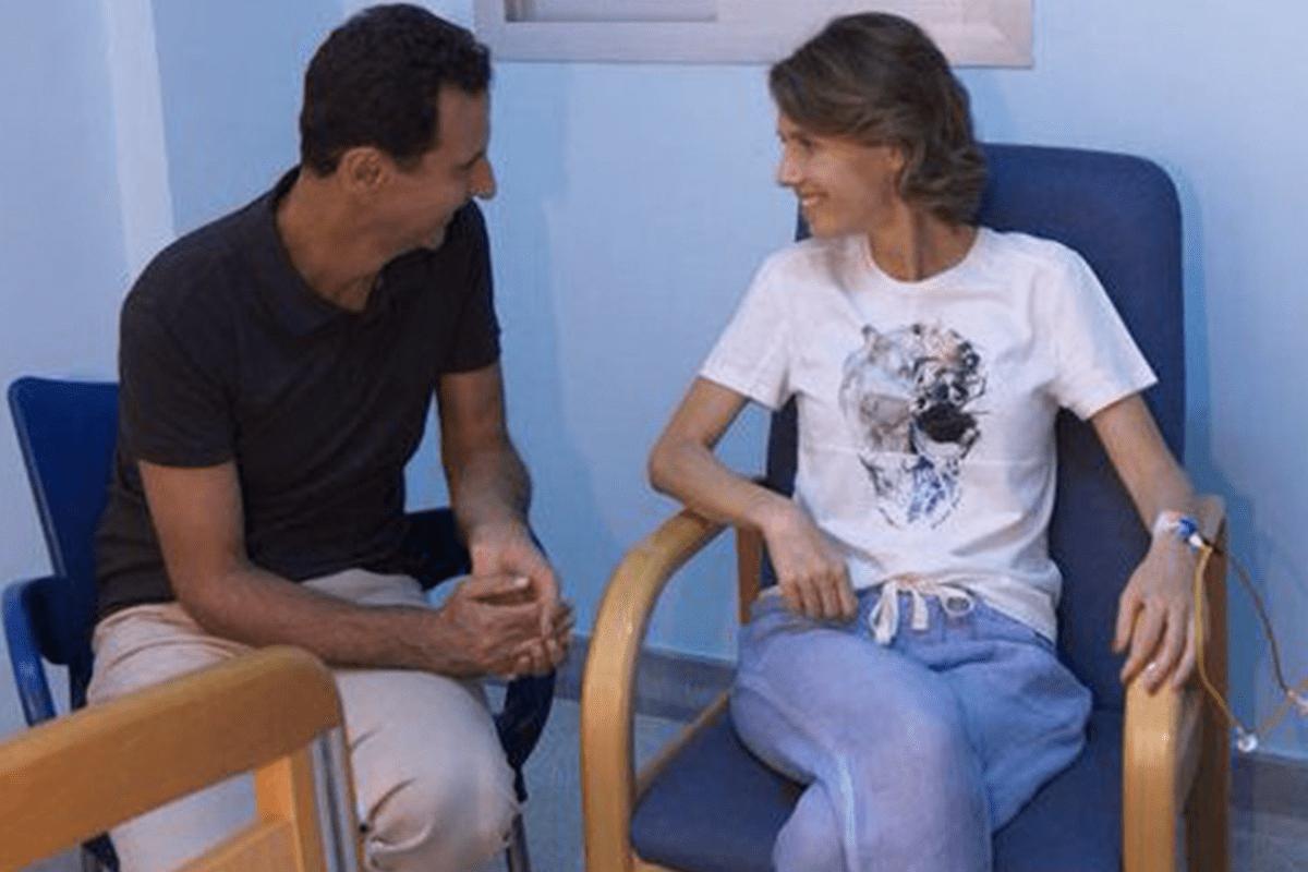 Syria's first lady Asma Al-Assad and Syria's president and husband, Bashar Al-Assad [sana.sy]