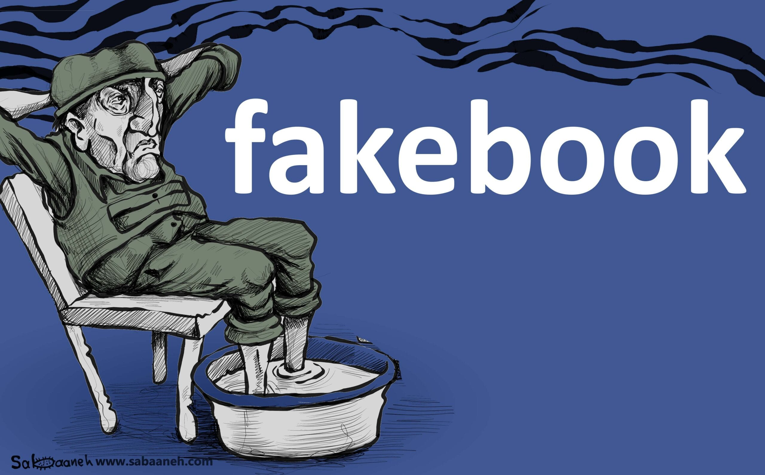 Is Facebook censoring Palestine? - Cartoon [Sabaaneh/MiddleEastMonitor]