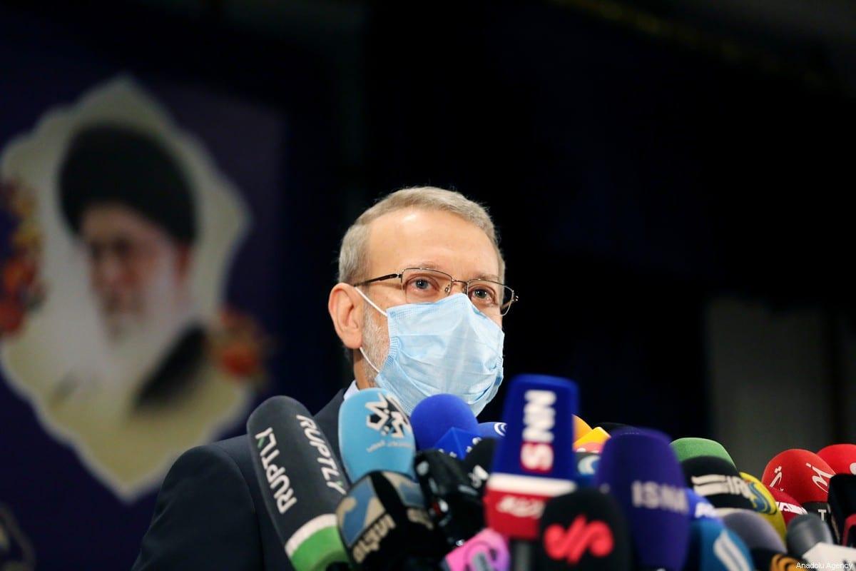 Former speaker of the Parliament of Iran Ali Larijani in Tehran, Iran on May 15, 2021 [Fatemeh Bahrami/Anadolu Agency]