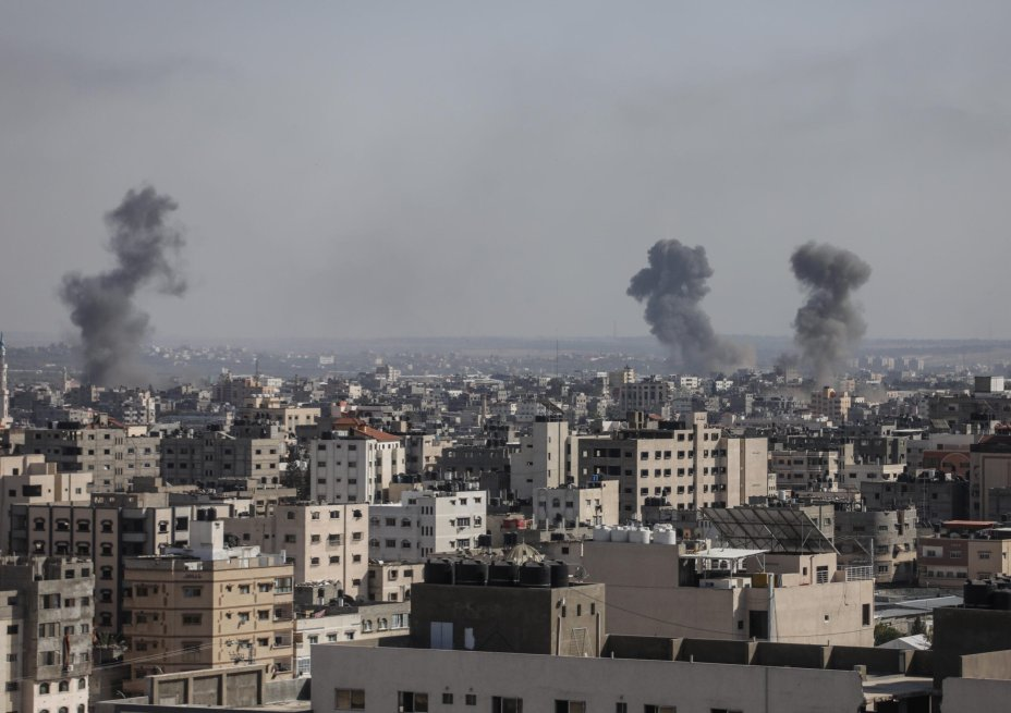 Israel, which continuously strikes the besieged Gaza Strip throughout the year, then increased its attacks and levels numerous housing blocks, and killed its 35 Palestinians including nine children [Mohammed Asad/Middle East Monitor]