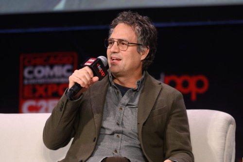 CHICAGO, ILLINOIS - MARCH 1: Mark Ruffalo speaks on stage during C2E2 Chicago Comic & Entertainment Expo at McCormick Place on March 1, 2020 in Chicago, Illinois. (Photo by Daniel Boczarski/Getty Images)