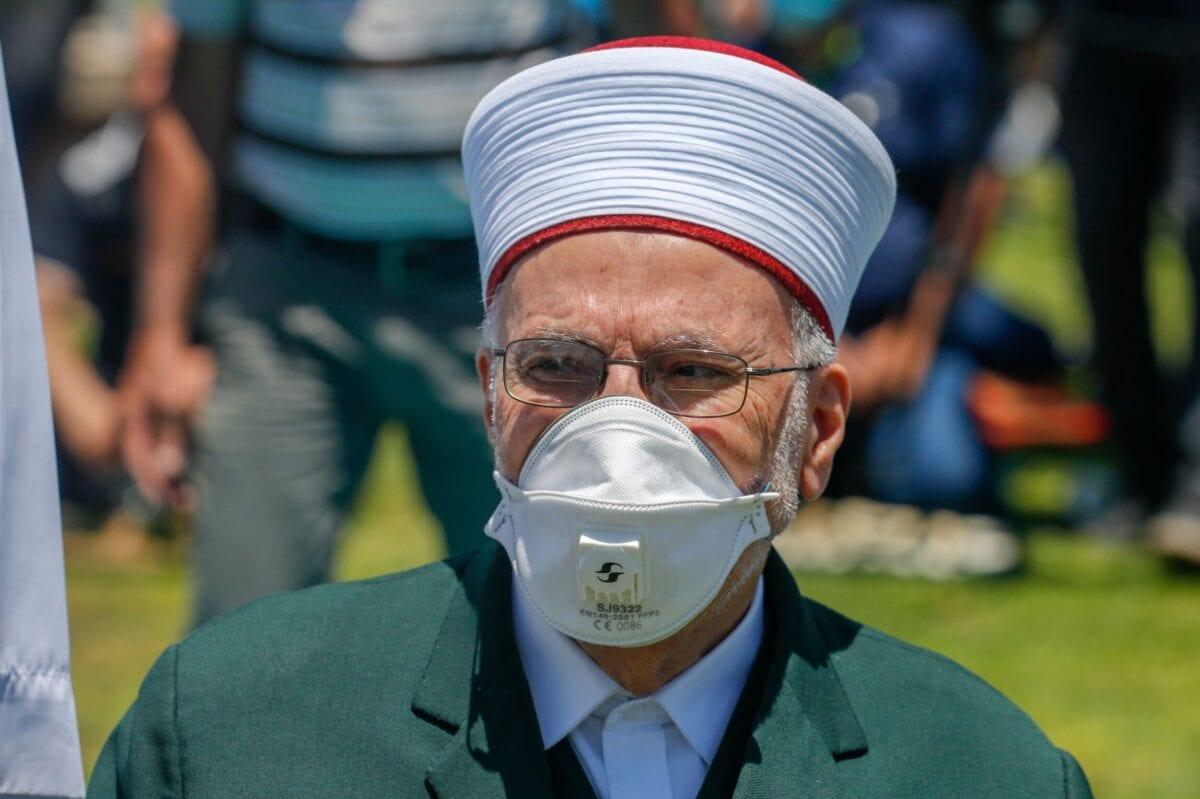 Sheikh Ekrima Sa'id Sabri, the former grand mufti of Jerusalem and the Palestinian territories on June 12, 2020 [AHMAD GHARABLI/AFP via Getty Images]