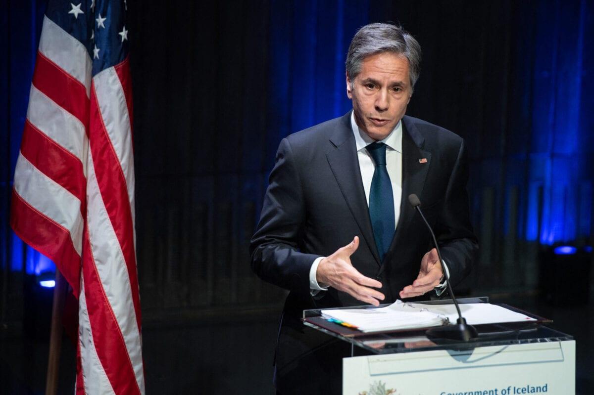 US Secretary of State Antony Blinken on May 18, 2021 [SAUL LOEB/POOL/AFP via Getty Images]
