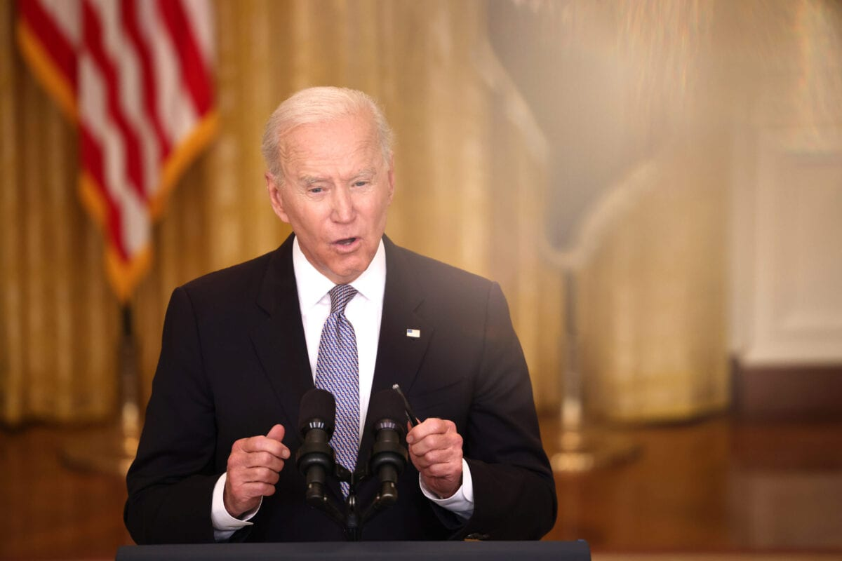 US President Joe Biden on May 17, 2021 in Washington, DC [Anna Moneymaker/Getty Images]