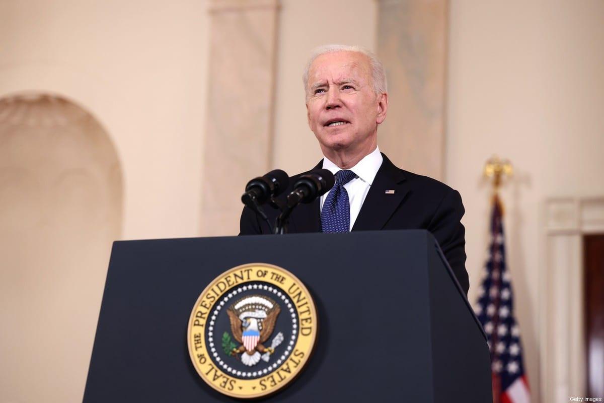 US President Joe Biden in Washington, DC on 20 May 2021 [Anna Moneymaker/Getty Images]