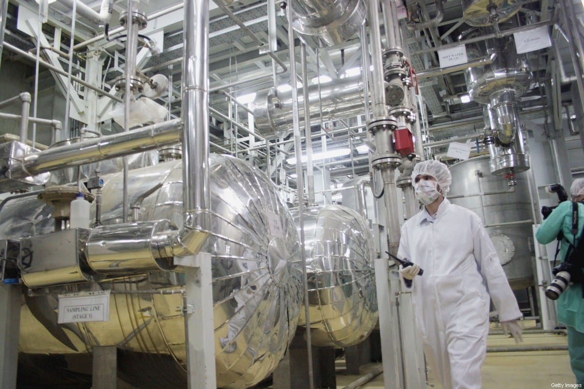 A worker walks inside of an uranium conversion facility, part of Iran's Nuclear Power Programme, on March 30, 2005 just outside the city of Isfahan, Iran [Getty Images]