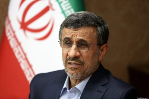 Iranian former President Mahmoud Ahmadinejad speaks during an exclusive interview on the upcoming presidential elections in Tehran, Iran on 6 May 2021. [Fatemah Bahrami - Anadolu Agency]
