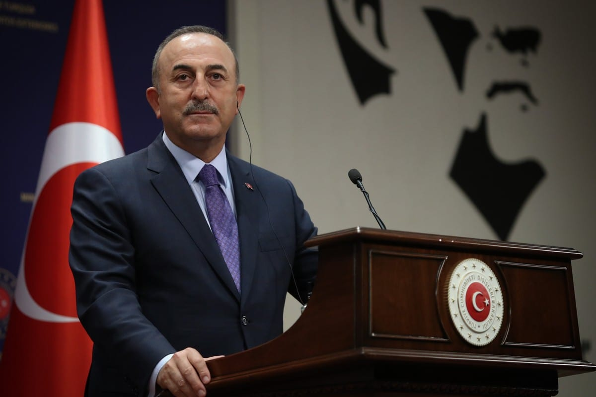 Turkish Foreign Minister Mevlut Cavusoglu in Ankara, Turkey on May 07, 2021 [Cem Özdel/Anadolu Agency]