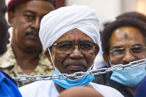 A general view of the trial of Sudanese former President Omar al-Bashir over the 1989 coup that brought him to power, at the Officer Training Institute, in Khartoum, Sudan on 15 June 2021. [Mahmoud Hjaj - Anadolu Agency]