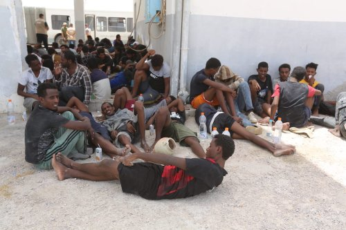 Tunisian naval forces rescue 178 migrants from the Mediterranean after the boats transporting them broke down while trying to reach Europe, in Tunisia on June 27, 2021 [Tasnim Nasri / Anadolu Agency]