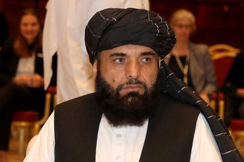 Suhail Shaheen, spokesman for the Taliban in Qatar, attends the Intra Afghan Dialogue talks in the Qatari capital Doha on 7 July 2019. [KARIM JAAFAR/AFP via Getty Images]