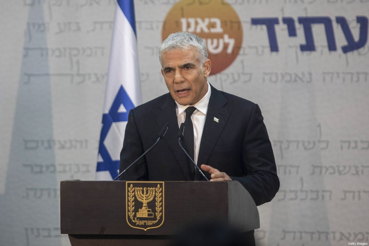Israeli Foreign Minister and Alternate-Prime Minister Yair Lapid in Tel Aviv 6 May 2021 [Kobi Wolf/Bloomberg/Getty Images]
