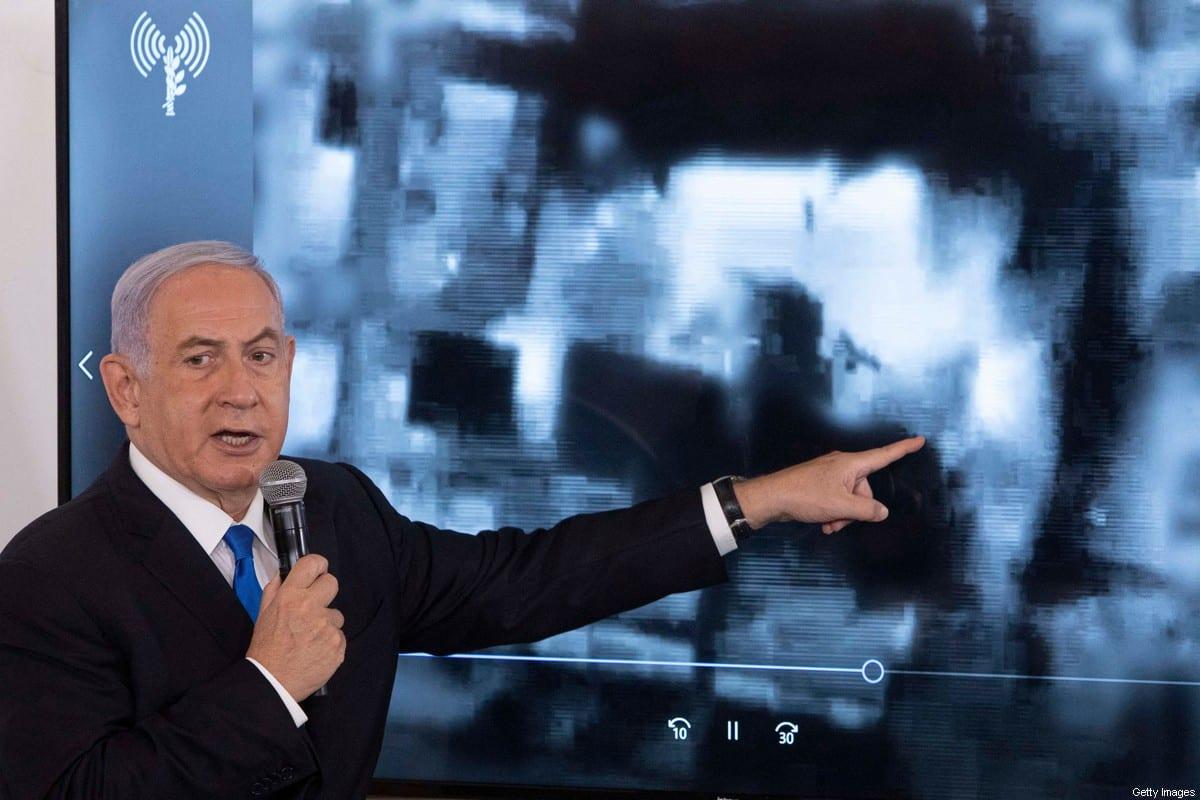 Former Israeli Prime Minister Benjamin Netanyahu in Tel Aviv, on 19 May 2021 [SEBASTIAN SCHEINER/POOL/AFP/Getty Images]
