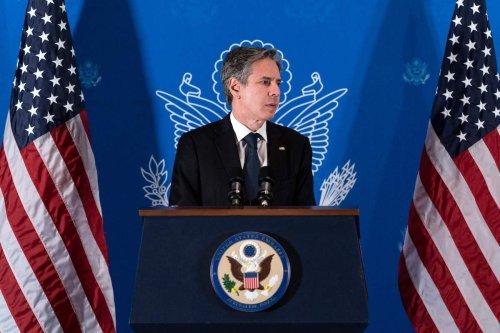 US Secretary of State Antony Blinken speaks during a news conference in Jerusalem, on 25 May 2021. [ALEX BRANDON/POOL/AFP via Getty Images]