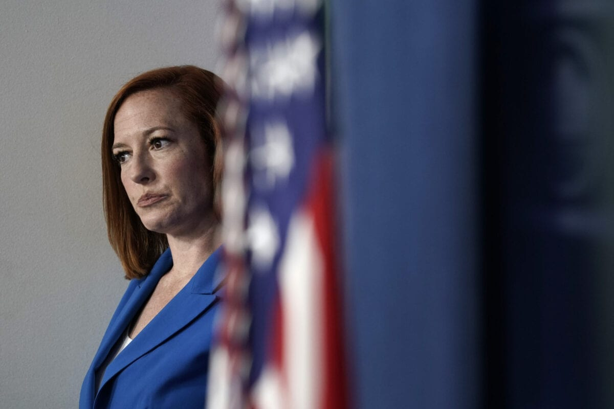 Jen Psaki, White House press secretary in Washington, D.C., U.S., on June 7, 2021 [Yuri Gripas/Abaca/Bloomberg via Getty Images]
