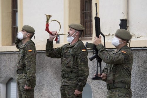 Members of the Spanish army on May 27, 2021 [Carlos Gil Andreu/Getty Images]