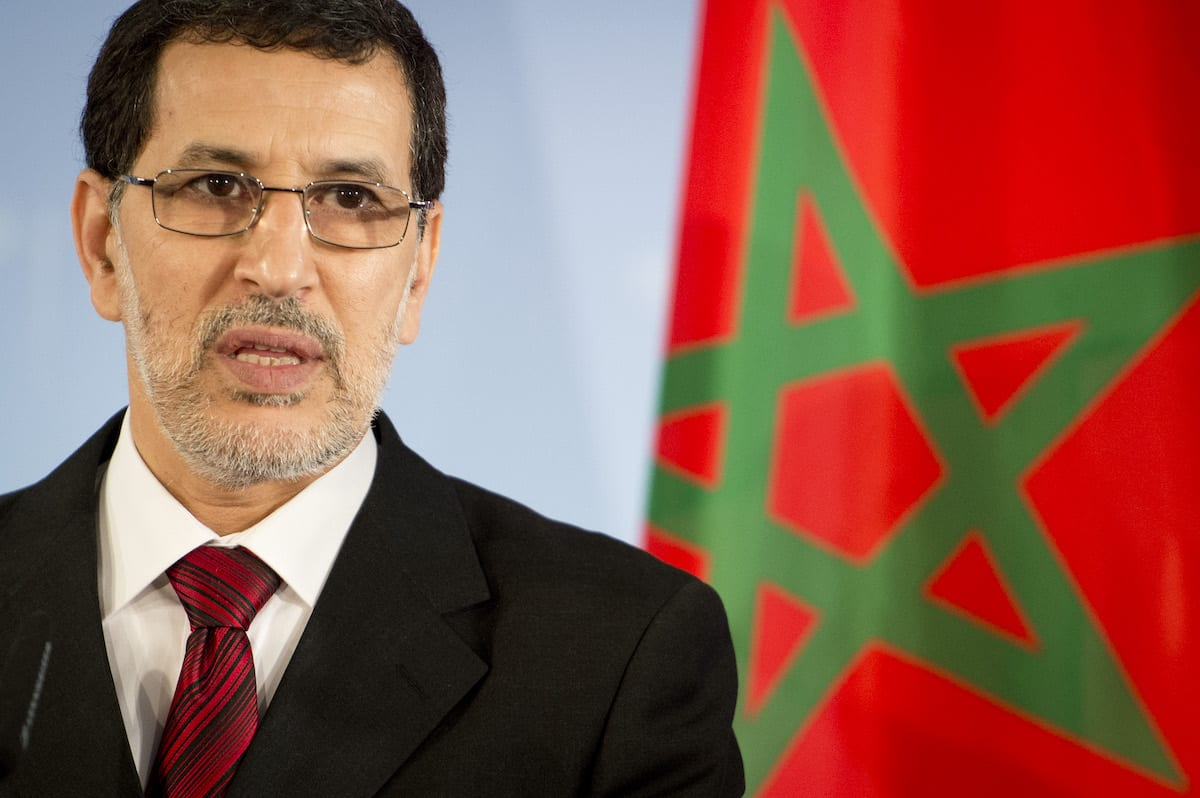 Moroccan foreign minister Saad-Eddine El Othmani addresses a press conference with his German counterpart (unseen) at the foreign ministry in Berlin on 23 November 2012. [ODD ANDERSEN/AFP via Getty Images]