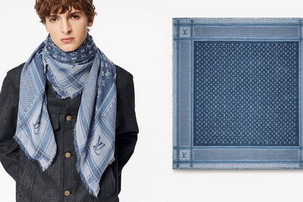 Louis Vuitton released a luxury designer scarf heavily influenced by the traditional Palestinian keffiyeh.