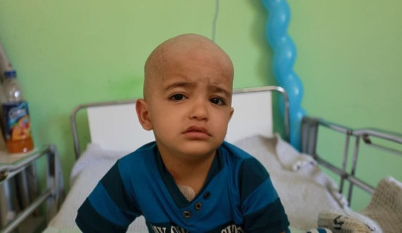 Three-year-old Luay from Gaza has been transferred to the occupied West Bank for cancer treatment [Palestinian Center for Human Rights ]